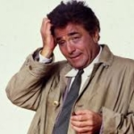 Actor Peter Falk as Columbo